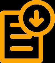 Icone de téléchargment d'un fichier
